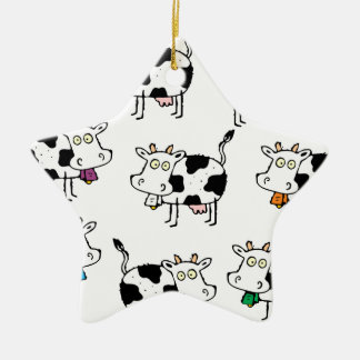 Mujer de 8 vacas ornamento de navidad
