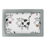 Mujer de 8 vacas hebilla de cinturon rectangular