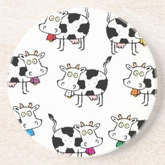 Mujer de 8 vacas posavasos de arenisca