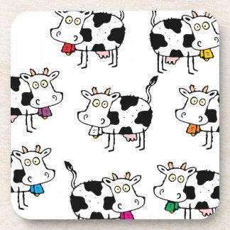 Mujer de 8 vacas posavasos de bebida