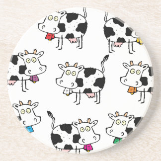 Mujer de 8 vacas posavasos diseño