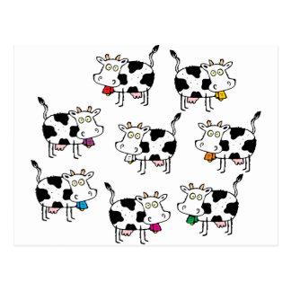 Mujer de 8 vacas postales