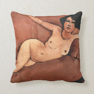 Mujer de Amedeo Modigliani en un sofá Cojín