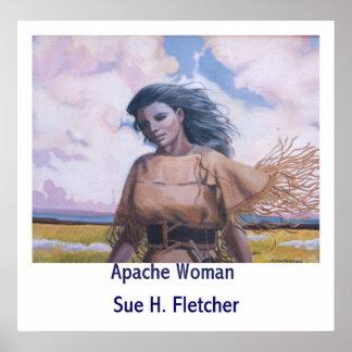 Mujer de Apache Póster