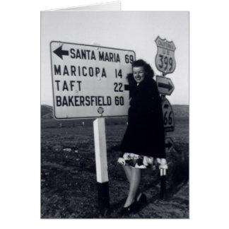 mujer de California de los años 40 Tarjeta De Felicitación