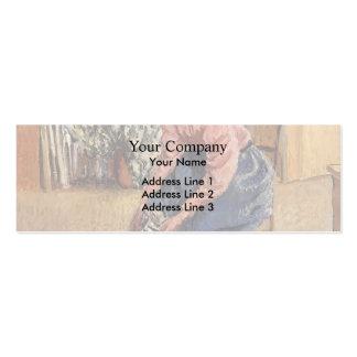 Mujer de Camilo Pissarro- que pone en sus medias Tarjetas De Visita Mini