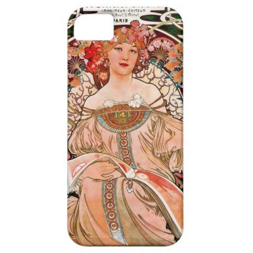 Mujer de Champán - F. Champenois Imprimeur iPhone 5 Carcasas
