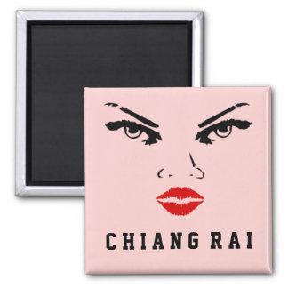 Mujer de Chiang Rai, Tailandia Imán Cuadrado