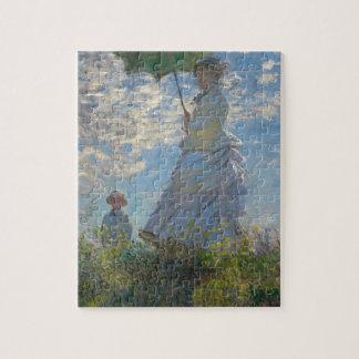 Mujer de Claude Monet con un parasol 1875 Puzzle Con Fotos