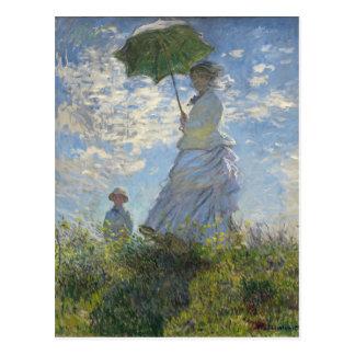 Mujer de Claude Monet con una bella arte del Tarjetas Postales