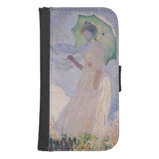 Mujer de Claude Monet el | con el parasol dado Billeteras Para Teléfono