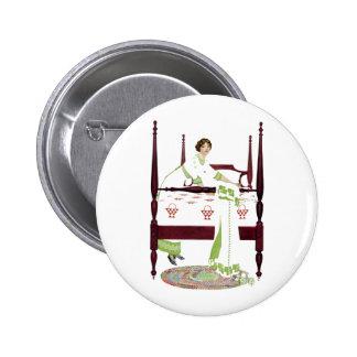 Mujer de Coles Phillips y cama imperial y edredone Pin Redondo De 2 Pulgadas