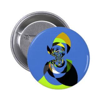 Mujer de colores chapa redonda 5 cm