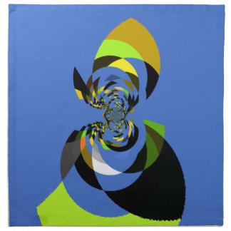Mujer de colores servilleta