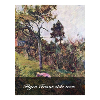 Mujer de descanso en el paisaje de Gauguin Paul Tarjeta Publicitaria
