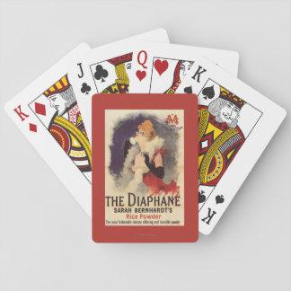 Mujer de Diaphane del La que pulveriza el poster Naipes