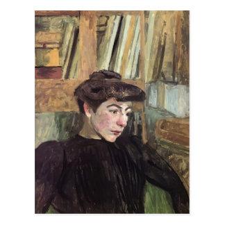 Mujer de Eduardo Vuillard- con las cejas negras Postal