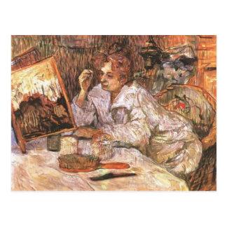 Mujer de Enrique de Toulouse-Lautrec en su Toilett Postal