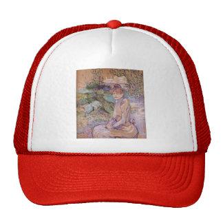 Mujer de Enrique Lautrec- en jardín de Monsieur Fo Gorra