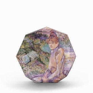 Mujer de Enrique Lautrec- en jardín de Monsieur Fo