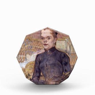 Mujer de Enrique Lautrec- en un gorra negro