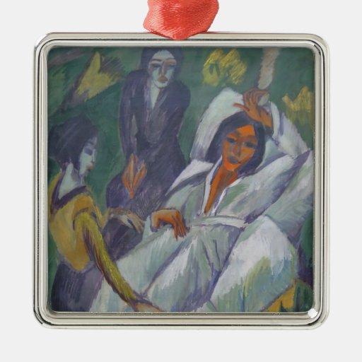 Mujer de Ernst Kirchner- en el tiempo del té: Adorno Para Reyes