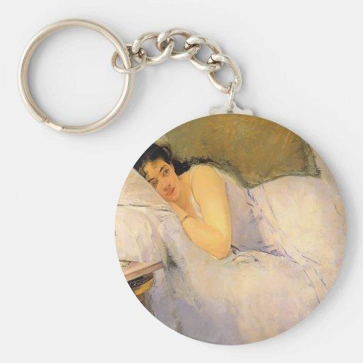 Mujer de Eva Gonzales- que despierta Llavero Personalizado
