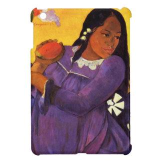 Mujer de Gauguin con caso del iPad del mango un mi iPad Mini Protectores