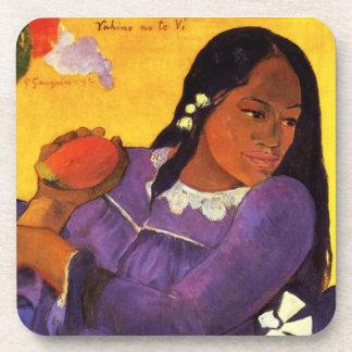 Mujer de Gauguin con los prácticos de costa de un  Posavaso