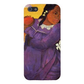 Mujer de Gauguin con un caso del iPhone 5 del mang iPhone 5 Carcasa