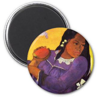 Mujer de Gauguin con un imán del mango