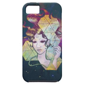 Mujer de Geode del espacio iPhone 5 Case-Mate Carcasa