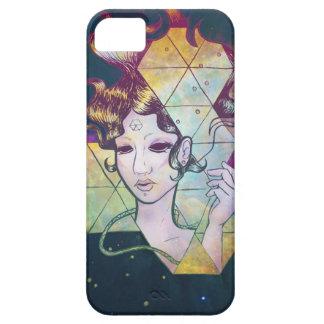 Mujer de Geode del espacio iPhone 5 Carcasa