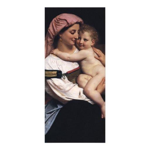 Mujer de Guillermo Bouguereau- de Cervara y su niñ Tarjetas Publicitarias Personalizadas