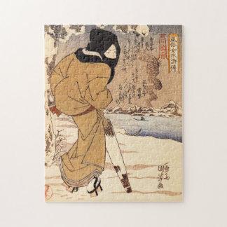 Mujer de Kuniyoshi que camina en el rompecabezas d
