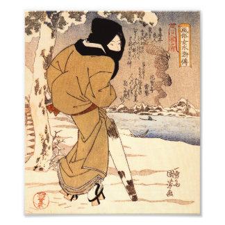 Mujer de Kuniyoshi que camina en la impresión de l Impresiones Fotograficas
