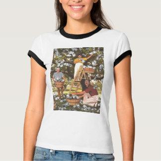Mujer de la camiseta del árbol del dinero playera