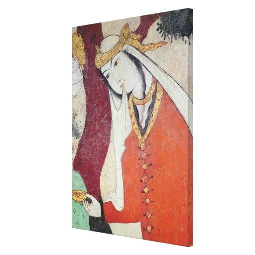 Mujer de la corte de Shah Abbas I, 1585-1627 Impresión En Lona Estirada