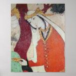 Mujer de la corte de Shah Abbas I, 1585-1627 Posters