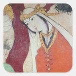 Mujer de la corte de Shah Abbas I, 1585-1627 Pegatina Cuadrada