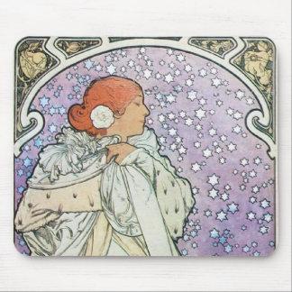 Mujer de la estrella tapetes de ratones