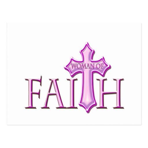 Mujer de la fe postales