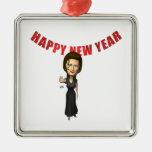 Mujer de la Feliz Año Nuevo Ornamento De Reyes Magos