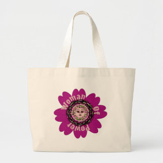 Mujer de la flor del poder bolsa