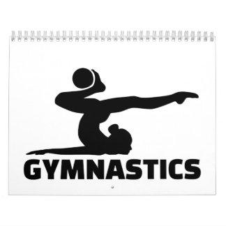 Mujer de la gimnasia calendarios de pared