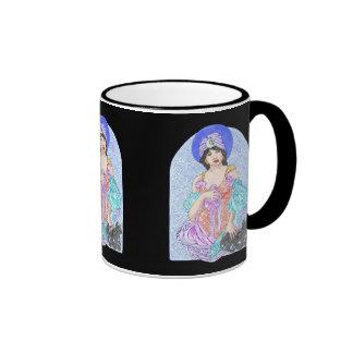 Mujer de la magia negra taza de dos colores