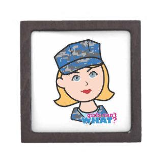 Mujer de la marina de guerra cajas de joyas de calidad