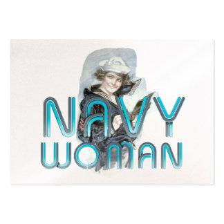Mujer de la marina de guerra de la CAMISETA Plantillas De Tarjetas De Visita