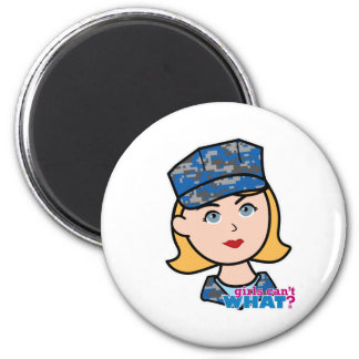 Mujer de la marina de guerra imán para frigorifico
