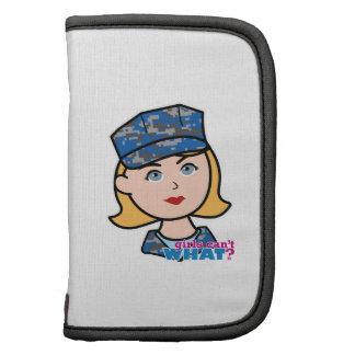 Mujer de la marina de guerra planificador